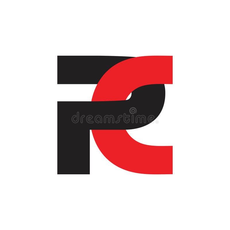 Vetor ligado simples do logotipo do PC abstrato das letras ilustração stock