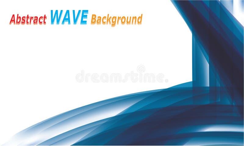 Vetor liso de fluxo colorido abstrato do projeto do fundo da onda ilustração stock
