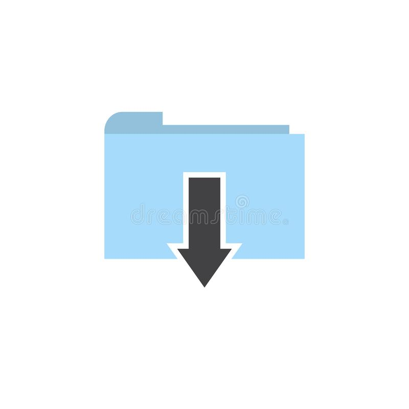Vetor liso do ícone da transferência do dobrador ilustração royalty free