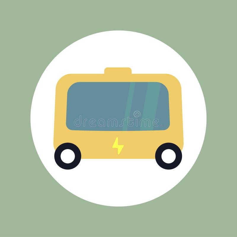 Vetor liso do projeto do ícone elétrico do veículo do eco ilustração do vetor