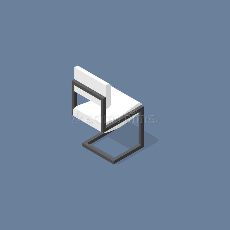 Vetor liso isométrico do projeto da cadeira do escritório fotografia de stock royalty free