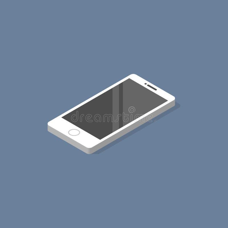 Vetor liso isométrico do projeto de Smartphone fotos de stock