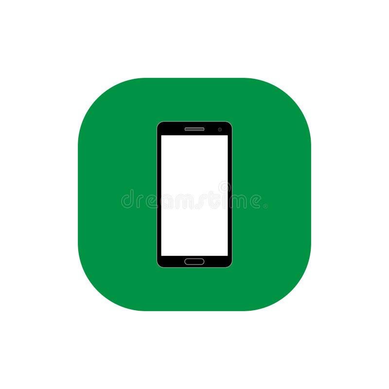 Vetor liso quadrado do ícone de Smartphone imagens de stock royalty free