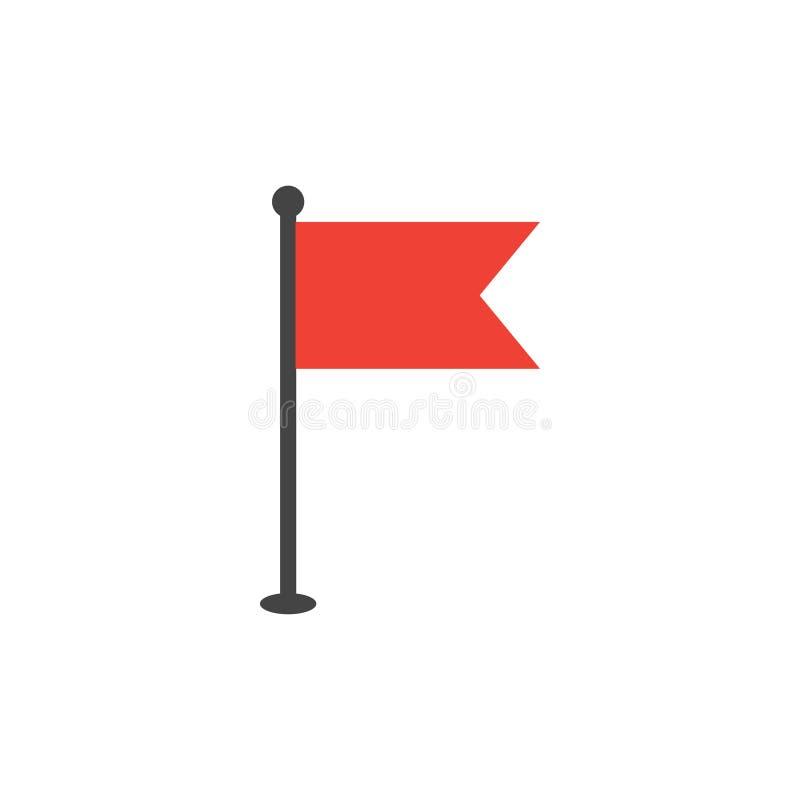 Vetor liso simples do molde do projeto gráfico do ícone da bandeira ilustração royalty free