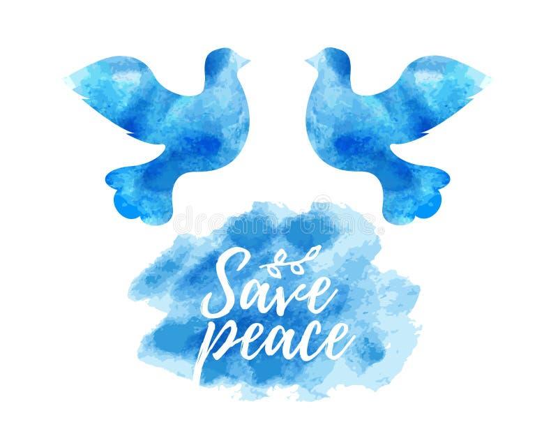Vetor livre do voo do vetor Dia da paz - símbolo da pomba do branco ilustração royalty free