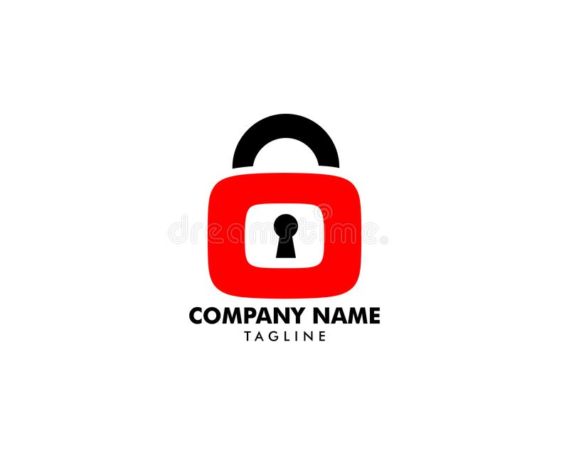 Vetor Logo Design Template do ícone do cadeado ilustração royalty free
