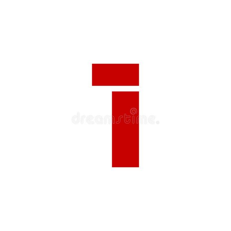 Vetor Logo Number 1 vermelho ilustração royalty free