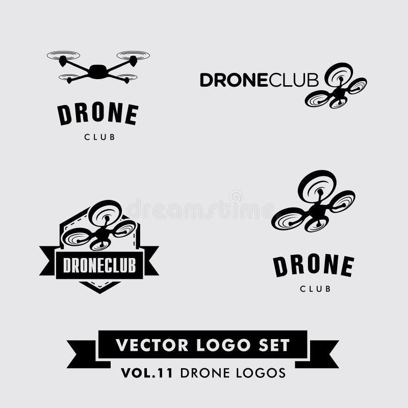 Vetor Logo Set do zangão ilustração stock