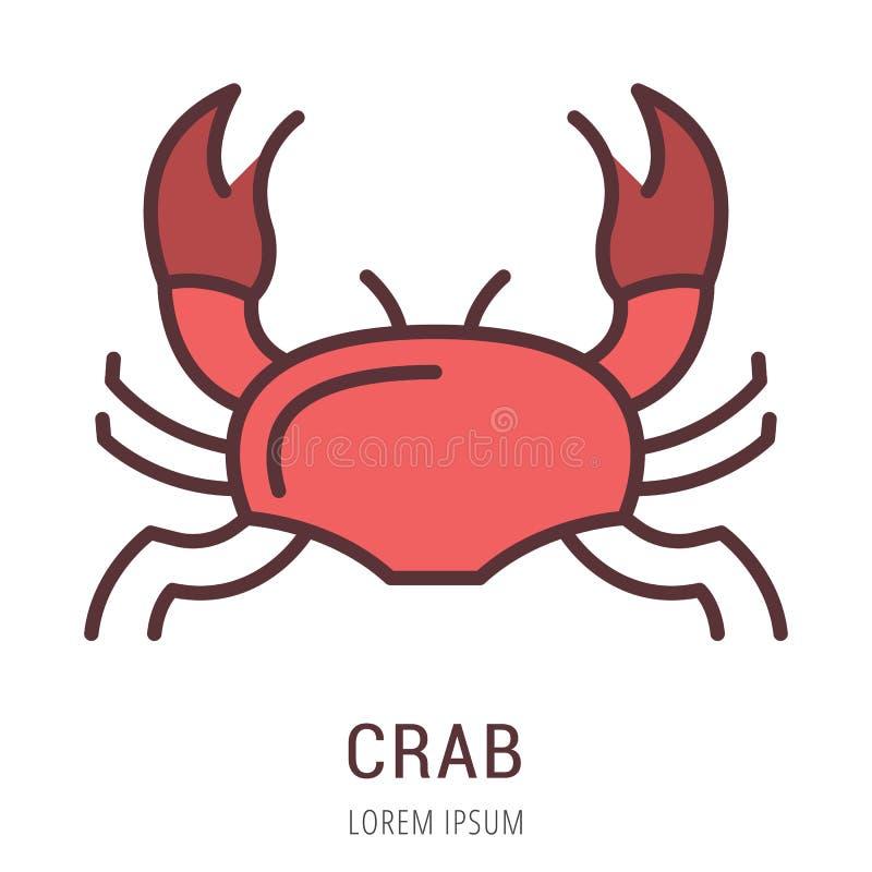 Vetor Logo Template Crab simples ilustração do vetor