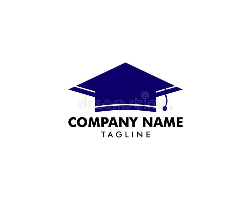 Vetor Logo Template Design Elements do tampão da graduação ilustração royalty free