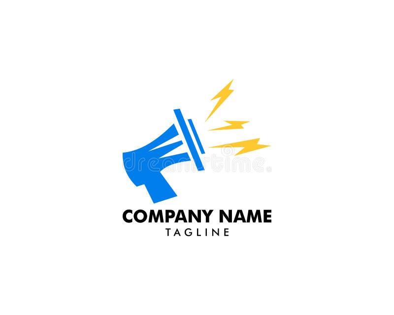 Vetor Logo Template do ícone do megafone ilustração do vetor