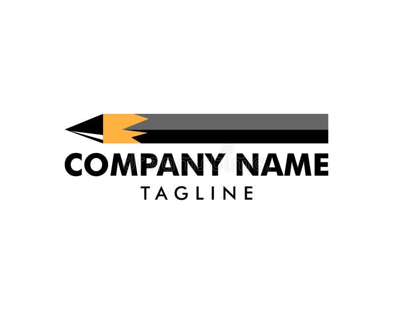 Vetor Logo Template do ?cone do l?pis ilustração royalty free