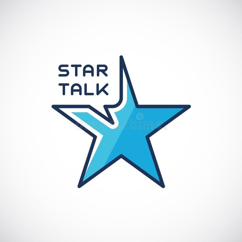 Vetor Logo Template do sumário da conversa da estrela ilustração stock