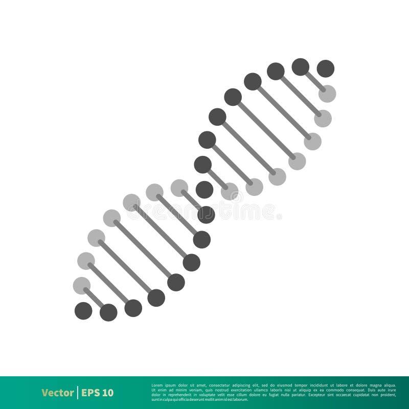 Vetor Logo Template Illustration Design do ícone do cromossoma do ADN Vetor EPS 10 ilustração stock