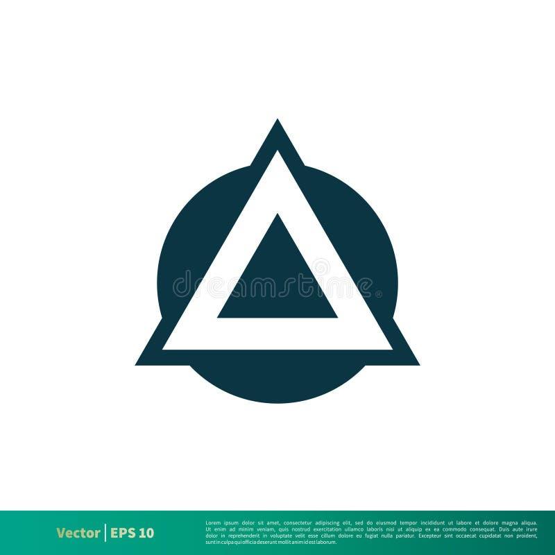 Vetor Logo Template Illustration Design do ícone da letra do triângulo A Vetor EPS 10 ilustração royalty free