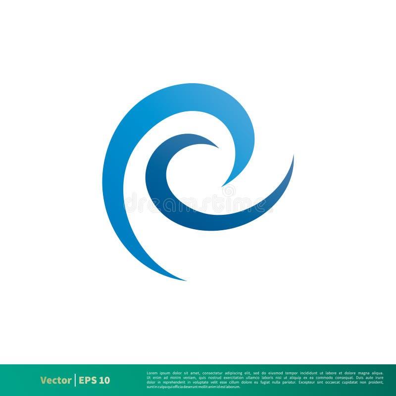 Vetor Logo Template Illustration Design do ícone da onda de água Vetor EPS 10 ilustração royalty free