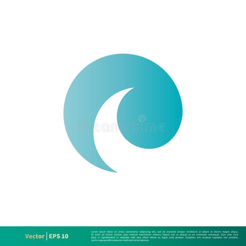 Vetor Logo Template Illustration Design do ícone da onda de água do redemoinho Vetor EPS 10 ilustração do vetor
