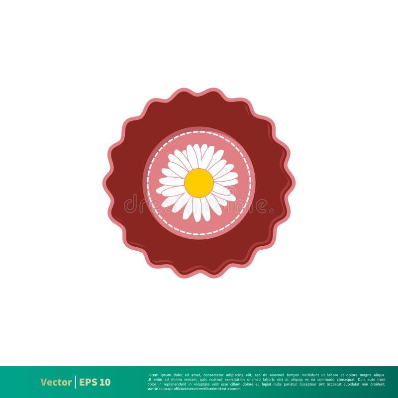 Vetor Logo Template Illustration Design do ícone do emblema da flor Vetor EPS 10 ilustração royalty free