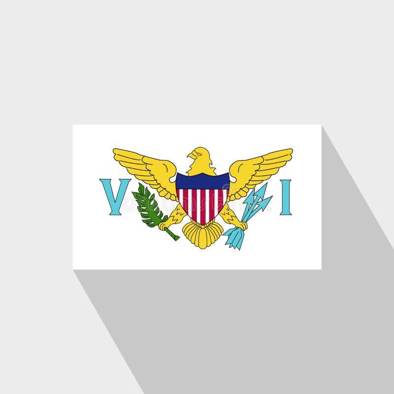 Vetor longo do projeto da sombra da bandeira de Ilhas Virgens E.U. ilustração royalty free