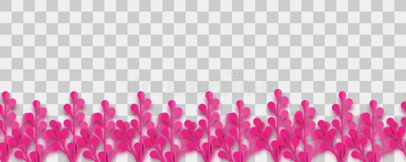 Vetor luxúria do origâmi do papel da planta ilustração stock