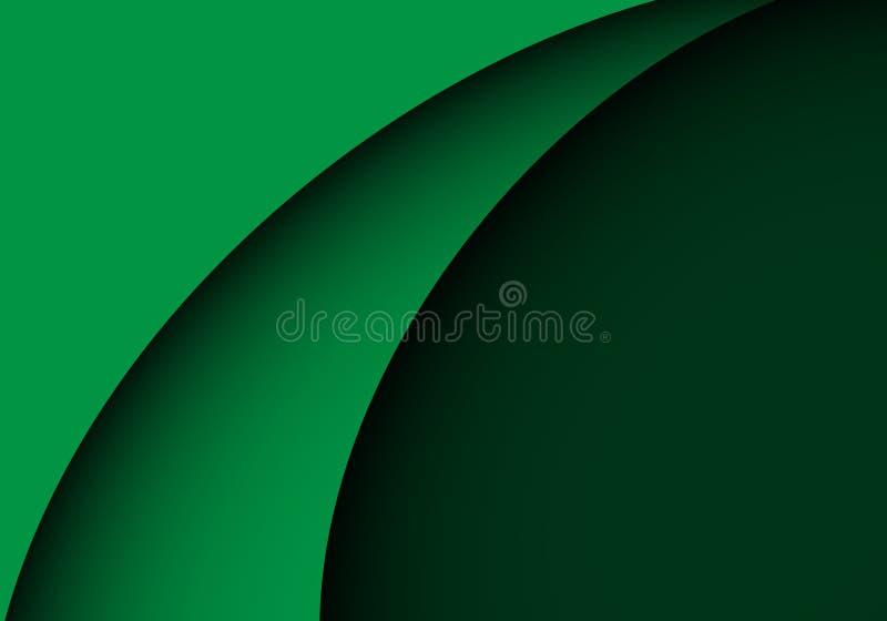 Vetor luxuoso moderno do fundo do projeto verde abstrato da forma da curva ilustração do vetor