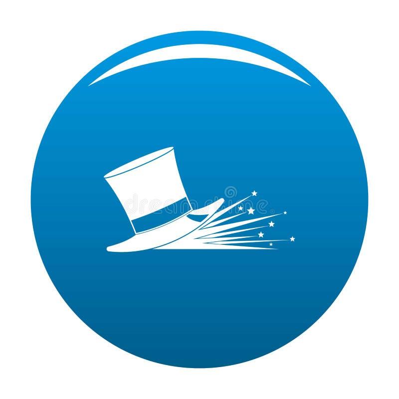 Vetor mágico do azul do ícone do chapéu ilustração do vetor