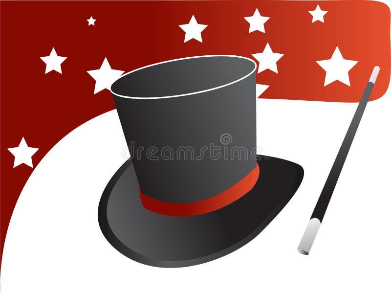 Vetor mágico do chapéu ilustração do vetor