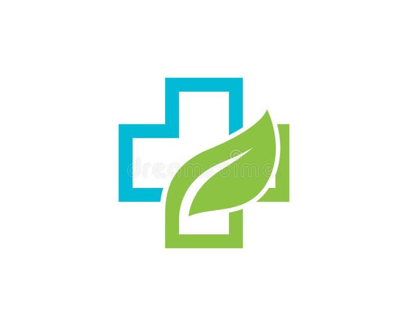 Vetor médico do molde do logotipo da saúde ilustração stock