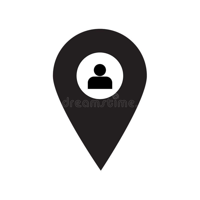 Vetor mínimo Eps10 do ícone do estilo dos povos do lugar ilustração do vetor