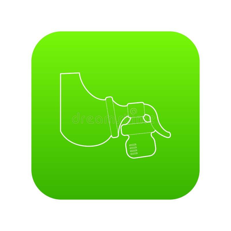 Vetor manual do verde do ícone da bomba de peito ilustração stock