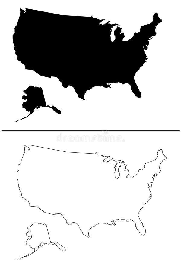 Vetor - mapa dos E.U. fotografia de stock