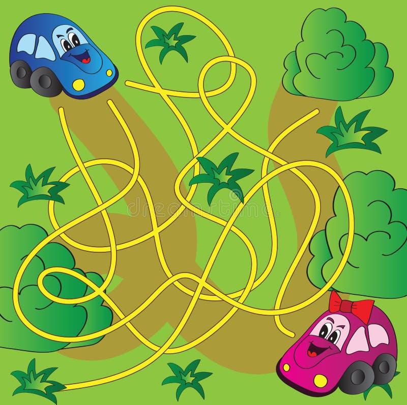 Vetor Maze Game ilustração royalty free
