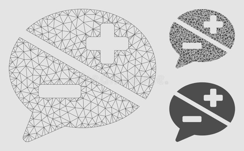 Vetor Mesh Network Model da disputa e ícone do mosaico do triângulo ilustração royalty free