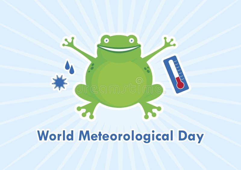 Vetor meteorológico do dia do mundo ilustração do vetor