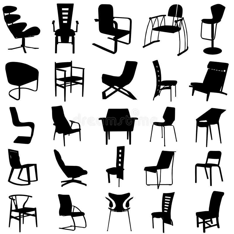 vetor moderno 2 da cadeira ilustração royalty free