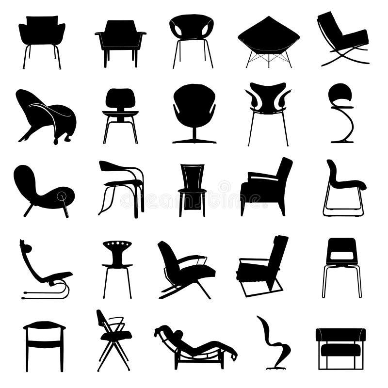 Vetor moderno da cadeira ilustração royalty free