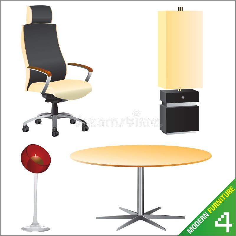 Vetor moderno da mobília 4 ilustração stock