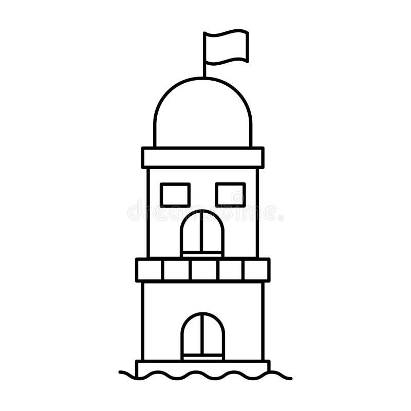 Vetor moderno da tendência lisa simples do ícone do farol isolado ilustração do vetor