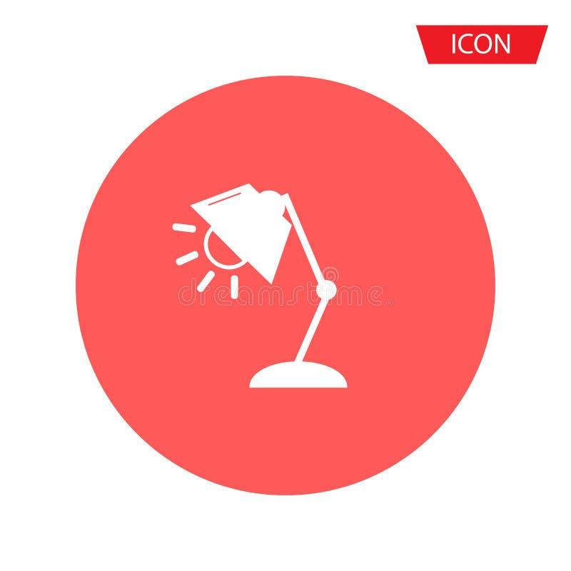 Vetor moderno dos ícones das lâmpadas isolado no fundo ilustração stock