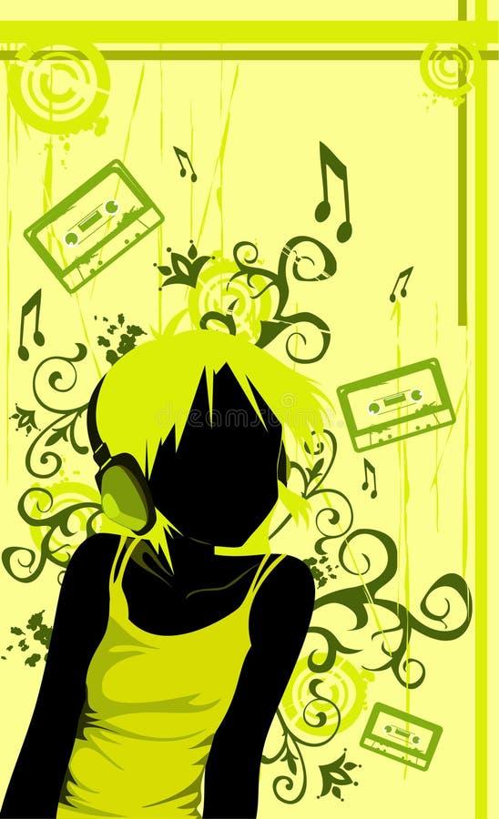 Vetor musical ilustração stock