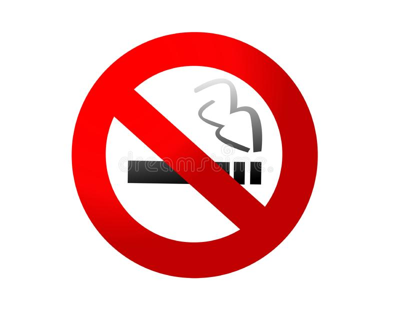 Vetor não fumadores do sinal imagens de stock royalty free