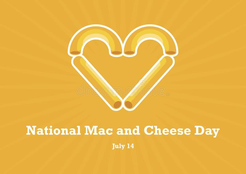 Vetor nacional do dia do Mac e do queijo ilustração do vetor