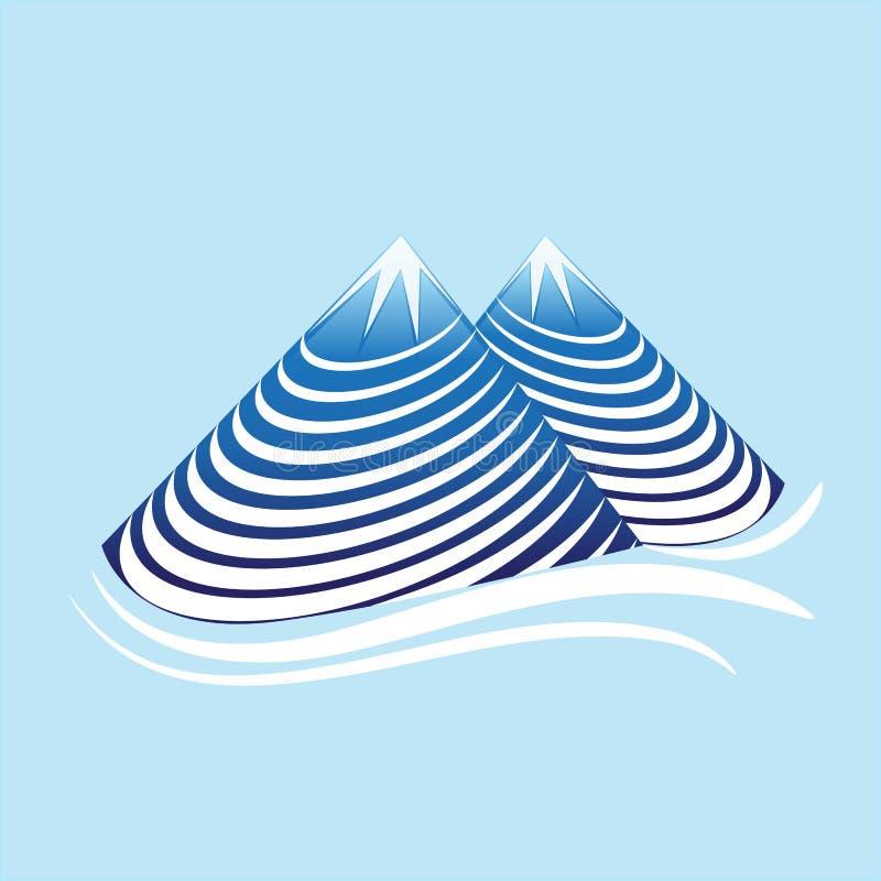 Vetor natural das montanhas ilustração royalty free