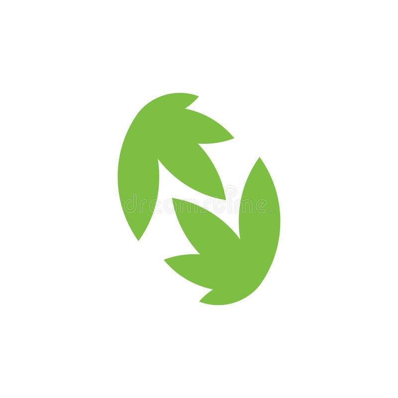 Vetor natural do logotipo do verde da folha do sumário da letra n ilustração royalty free