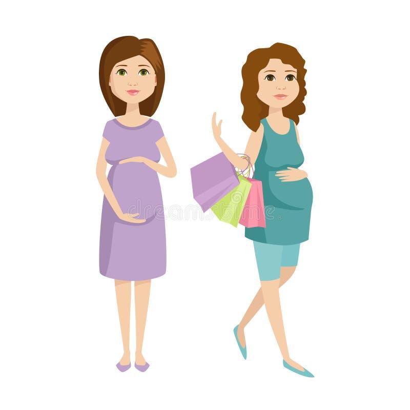 Download Vetor Novo Do Caráter Da Mulher Gravida Ilustração do Vetor - Ilustração de esperar, parenthood: 80100533