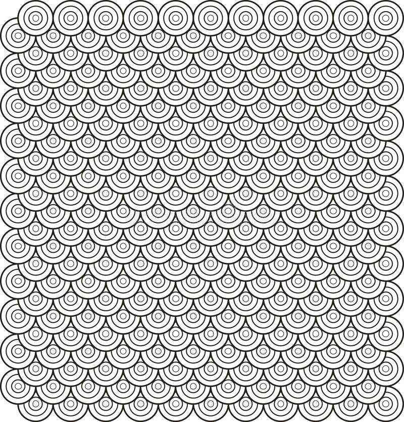 Vetor. O círculo baseou o teste padrão abstrato 3 da telha ilustração royalty free