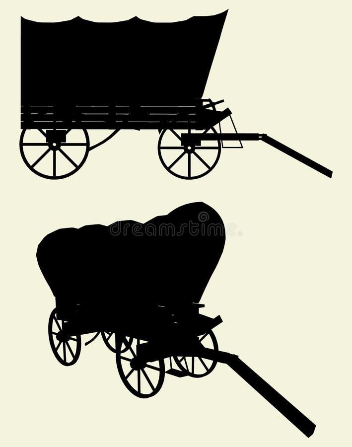 Vetor ocidental 01 do vagão do ônibus do estágio ilustração do vetor