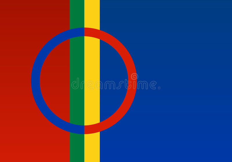 Vetor oficial da bandeira de Lapland ilustração royalty free