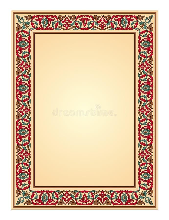Vetor oriental do frame do ornamento ilustração stock