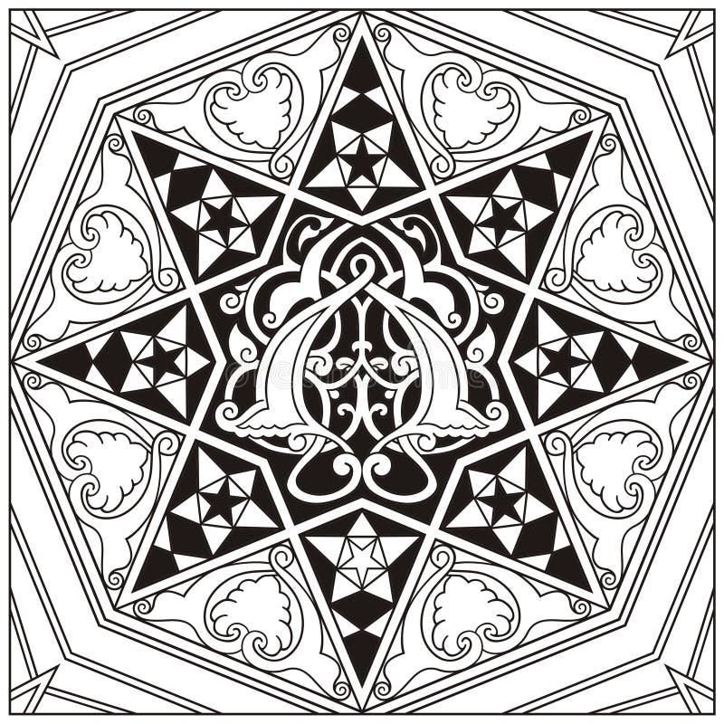 Vetor oriental do ornamento ilustração royalty free